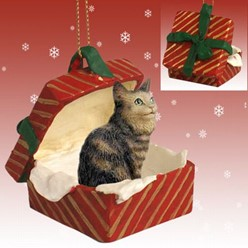 Cat Gift Box Ornaments
