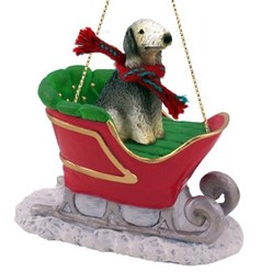 Dog Sleigh Christmas Ornaments