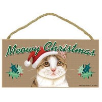 Meowy Christmas Signs