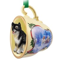 Dog Tea Cup Christmas Ornaments