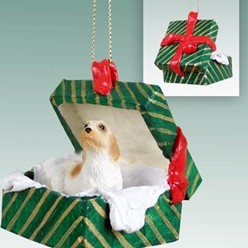 Dog Green Gift Box Ornaments
