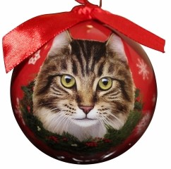 Cat Christmas Ball Ornaments
