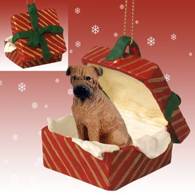 Raining Cats and Dogs | Bullmastiff Gift Box Christmas Ornament