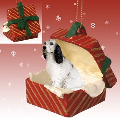 Raining Cats and Dogs | English Setter Gift Box Christmas Ornament