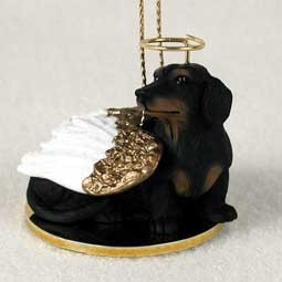 Raining Cats and Dogs | Dachshund Angel Ornament