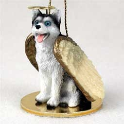 Raining Cats and Dogs | Siberian Husky Angel Ornament