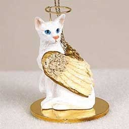 Raining Cats and Dogs | Oriental Shorthair Angel Ornament