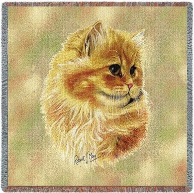 Raining Cats and Dogs | Cameo Persian Cat Throw
