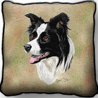 Raining Cats and Dogs | Border Collie Pillow