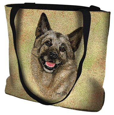 Raining Cats and Dogs | Norwegian Elkhound Tote Bag