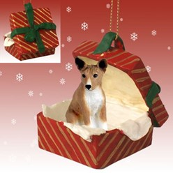 Basenji Gift Box Christmas Ornament