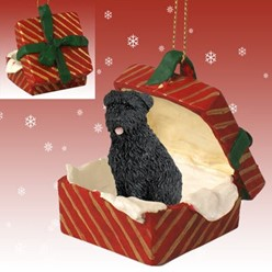 Bouvier Gift Box Christmas Ornament