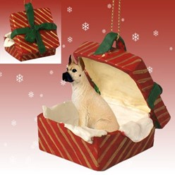 Great Dane Gift Box Christmas Ornament