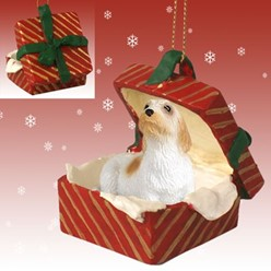 Petit Basset Griffon Vendeen Gift Box Christmas Ornament