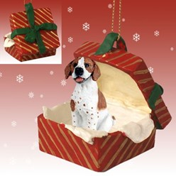 Pointer Gift Box Christmas Ornament