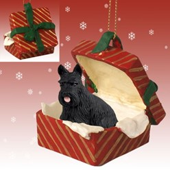 Scottish Terrier Gift Box Christmas Ornament