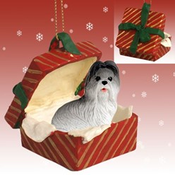 Shih Tzu Gift Box Christmas Ornament