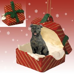 Staffordshire Bull Terrier Gift Box Christmas Ornament
