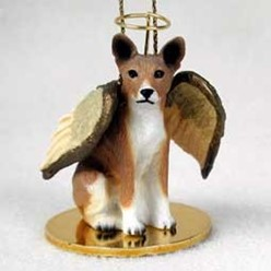 Basenji Angel Ornament