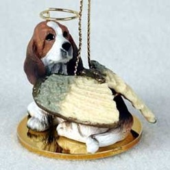 Basset Hound Angel Ornament