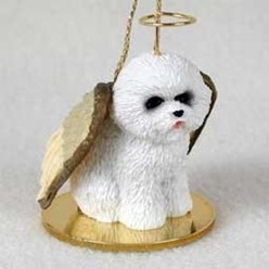 Bichon Frise Angel Ornament