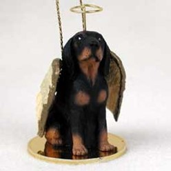 Black and Tan Coonhound Angel Ornament