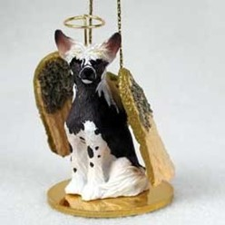 Chinese Crested Angel Ornament