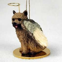 Norwich Terrier Angel Ornament