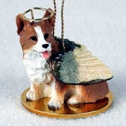 Welsh Corgi Pembroke Angel Ornament