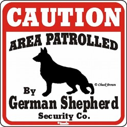 German Shepherd Caution Sign, the Perfect Dog Warning Sign