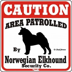 Norwegian Elkhound Caution Sign, the Perfect Dog Warning Sign