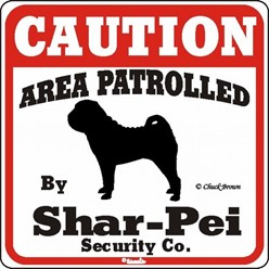 Shar-Pei Caution Sign, the Perfect Dog Warning Sign