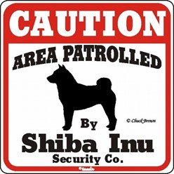 Shiba Inu Caution Sign, the Perfect Dog Warning Sign