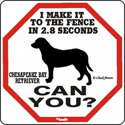 Chesapeake Bay Retriever Fence Sign, the Perfect Beware of Dog Sign