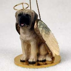 Mastiff Angel Ornament