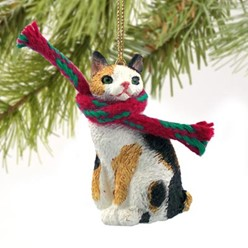 Japanese Bobtail Cat Christmas Ornament