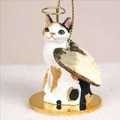 Japanese Bobtail Cat Angel Ornament