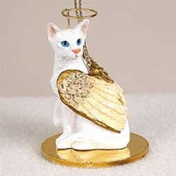 Oriental Shorthair Cat Angel Ornament