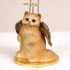Persian Cat Angel Ornament