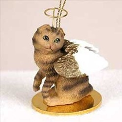 Scottish Fold Angel Ornament