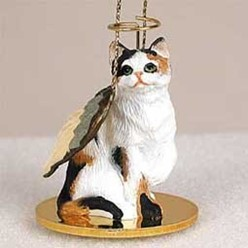 Calico Cat Angel Ornament
