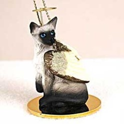 Siamese Cat Angel Ornament