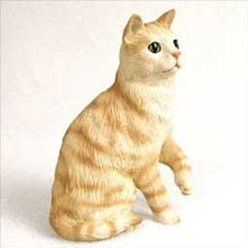 Red Tabby Cat Figurine, the perfect gift for cat lovers