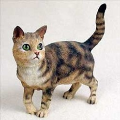 Brown Tabby Cat Figurine, the perfect gift for cat lovers
