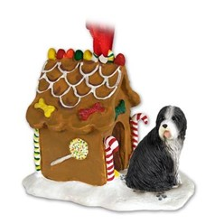 Bearded Collie Gingerbread Christmas Ornament