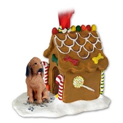 Bloodhound Gingerbread Christmas Ornament