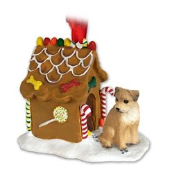 Border Terrier Gingerbread Christmas Ornament