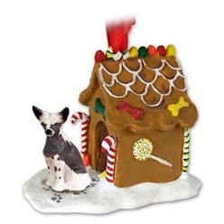 Chinese Crested Gingerbread Christmas Ornament