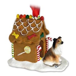 Collie Gingerbread Christmas Ornament