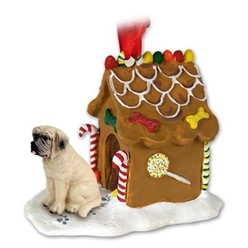 Mastiff Gingerbread Christmas Ornament